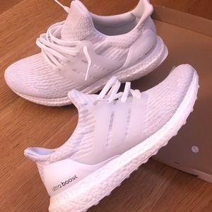 Adidas Ultra Boost Hvite Menns Størrelse 9 qgmv0tb9